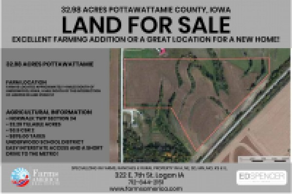 32.98 Acres Pottawattamie County Iowa